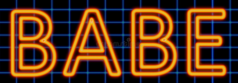 Babe neon sign royalty free illustration