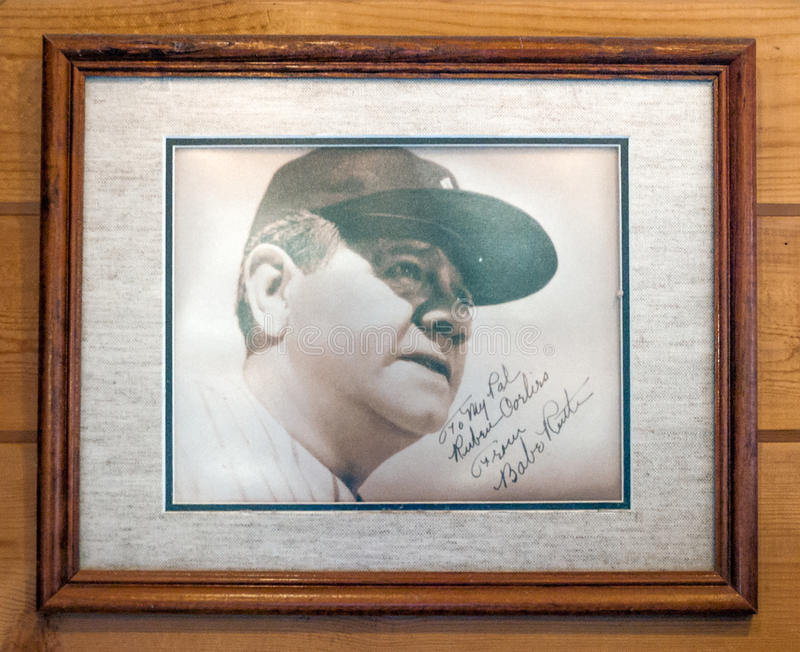 Babe Ruth Autograph fotos de stock royalty free