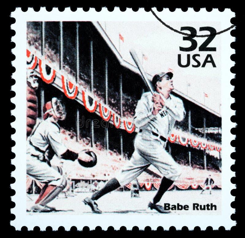 Babe Ruth Postage Stamp royalty illustrazione gratis