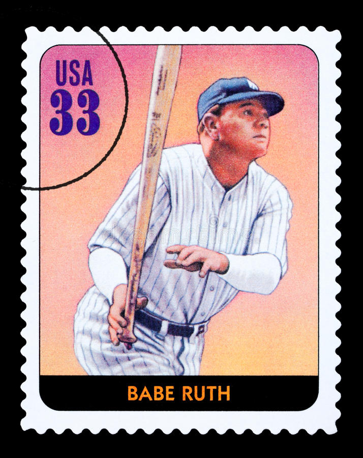 Babe Ruth Postage Stamp immagine stock