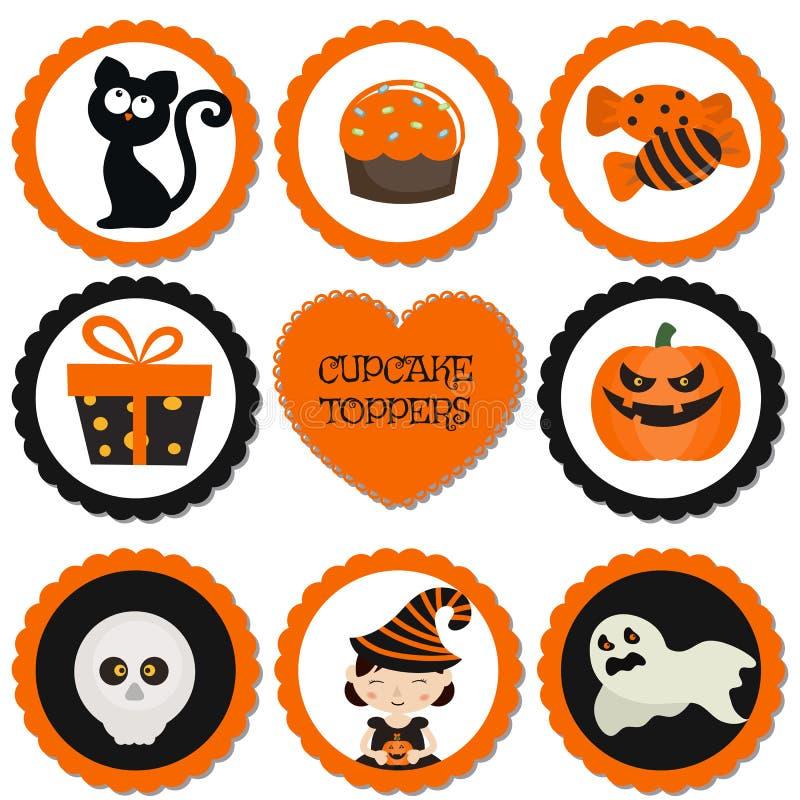 Babeczek numer jeden dla Halloween ilustracja wektor