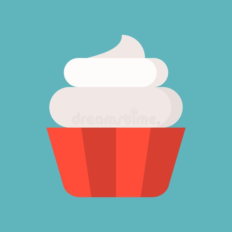 Babeczka, cukierki i ciasto set, płaska projekt ikona ilustracji