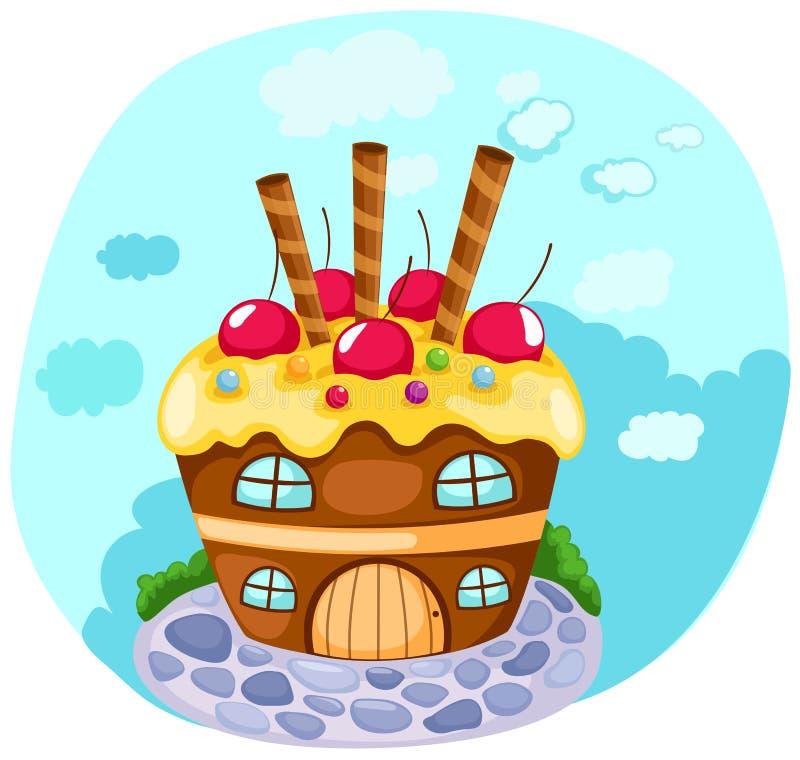 babeczka dom ilustracji