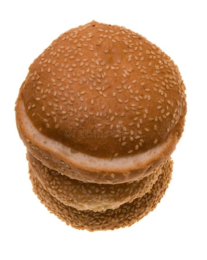 babeczka hamburger trzy zdjęcie stock