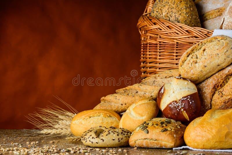 Babeczka i chleb zdjęcie royalty free