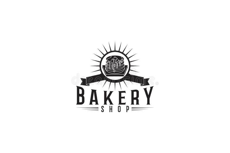 babeczka, piekarnia logo ilustracji