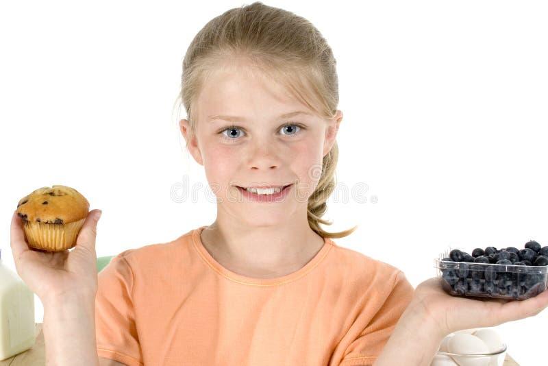 babeczki czarnych jagodowe zdjęcia stock