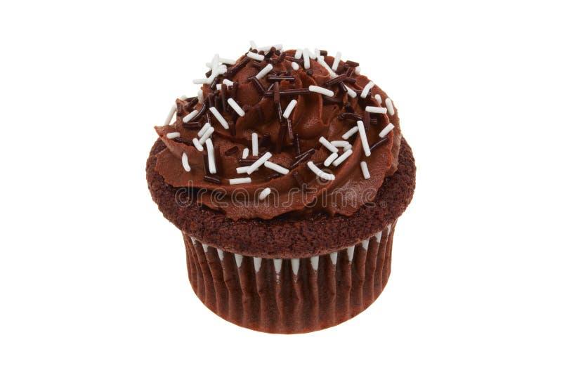 Babeczki czekolada odizolowywająca zdjęcia stock