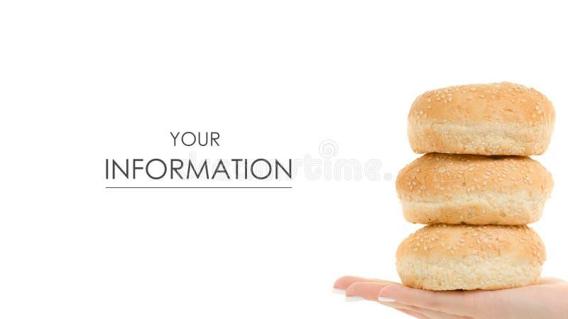 Babeczki dla hamburgerów w ręka wzorze zdjęcia royalty free