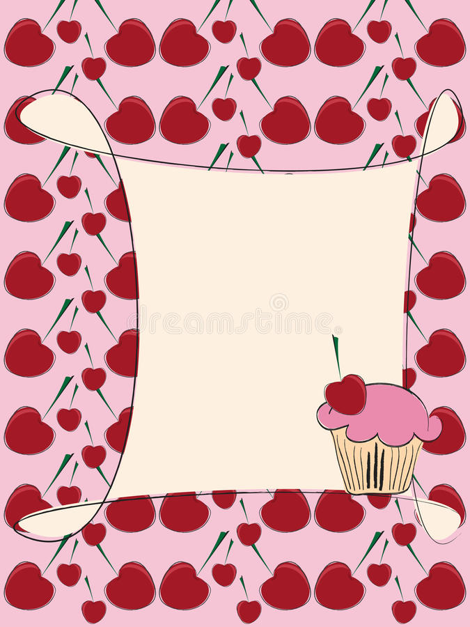 babeczki karciany zaproszenie ilustracji