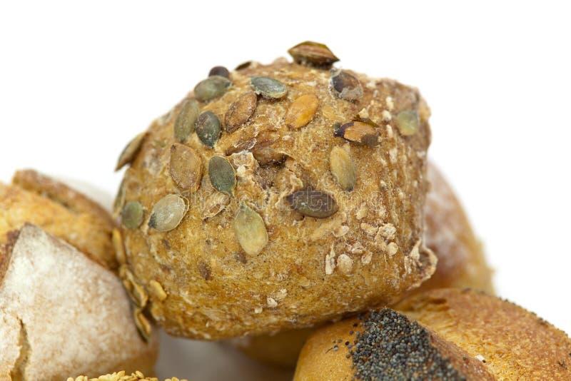 babeczki macro wiele ziaren sezamu strzał obraz stock