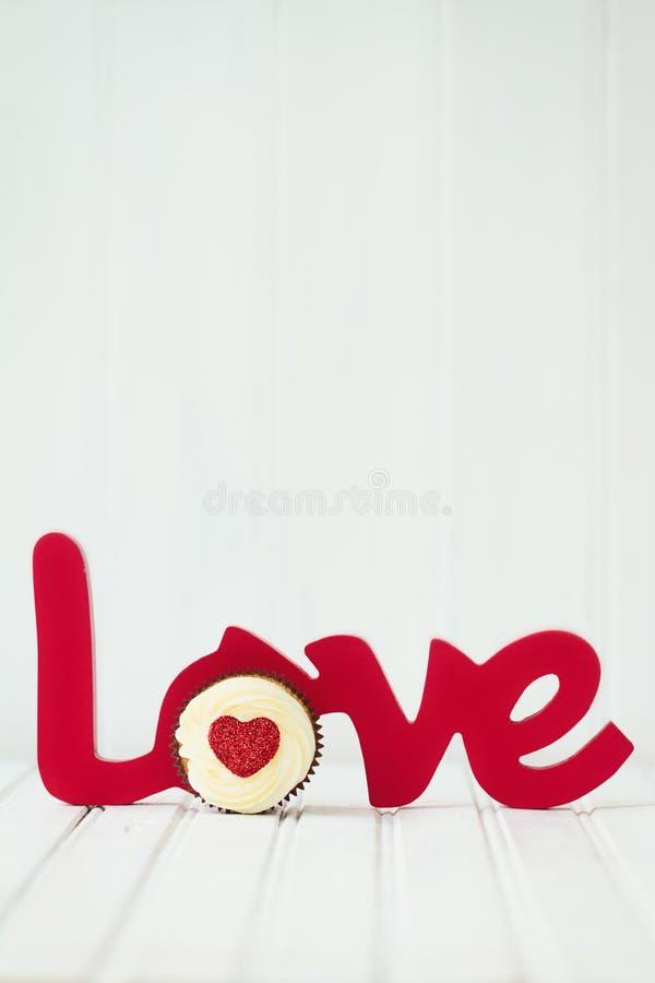 Babeczki miłość obrazy stock