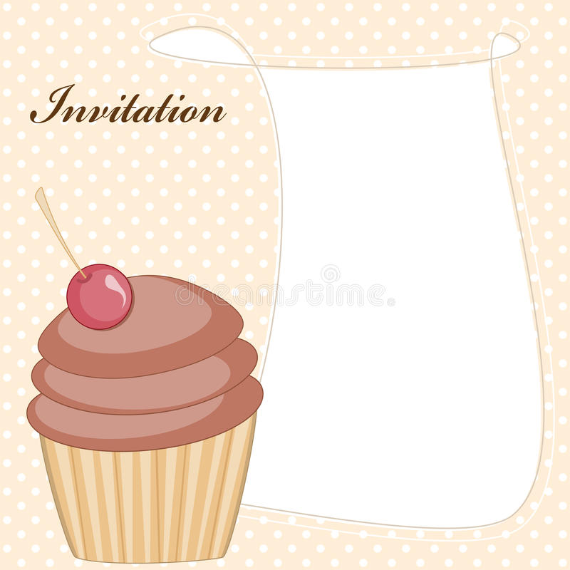 Babeczki zaproszenia karta royalty ilustracja