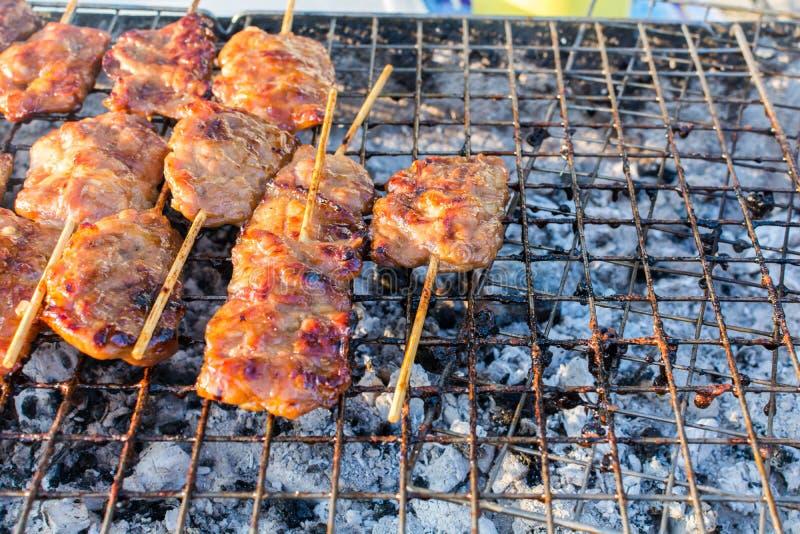 Babeque denominado tailandês da carne de porco fotografia de stock
