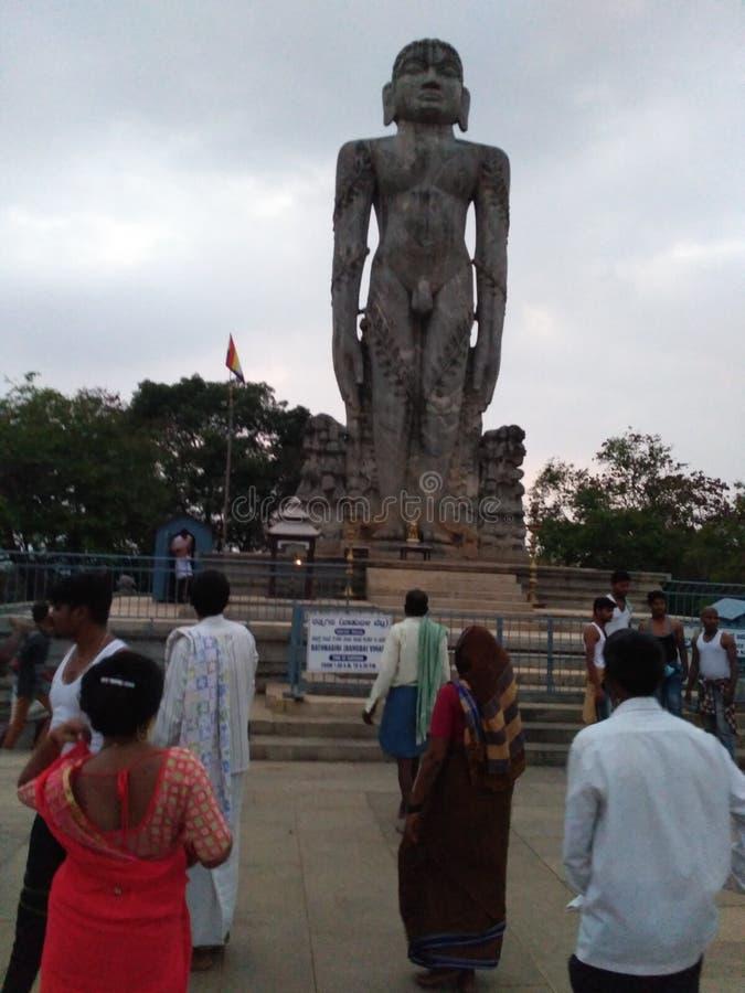 Babhubali statu i Dharmasthala arkivbilder