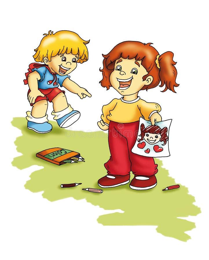 Babie's jokes vector illustration