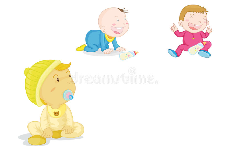 Babies royalty free illustration