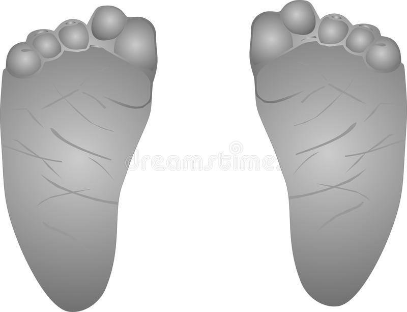 Download Babies feet illustration.. stock vector. Image of toes - 12138403
