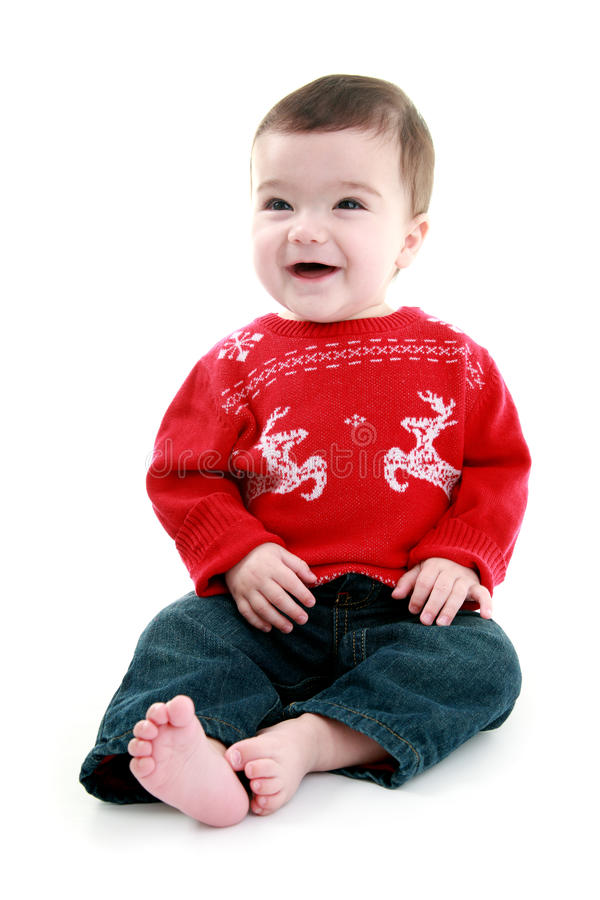 Babies first christmas royalty free stock image