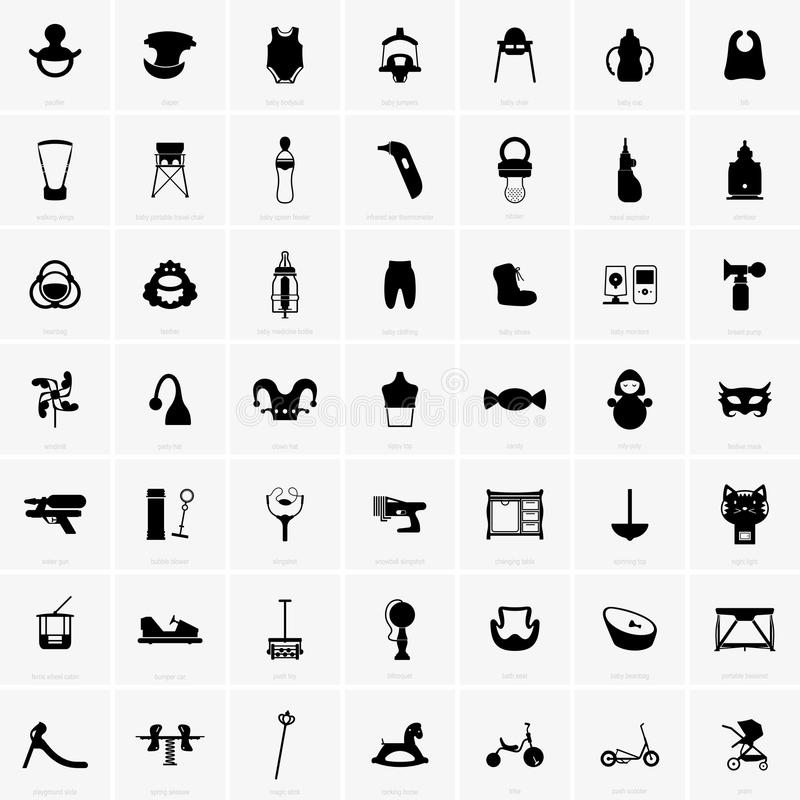 Babies and kids symbols. Available in high-resolution and several sizes to fit the needs of your project vector illustration