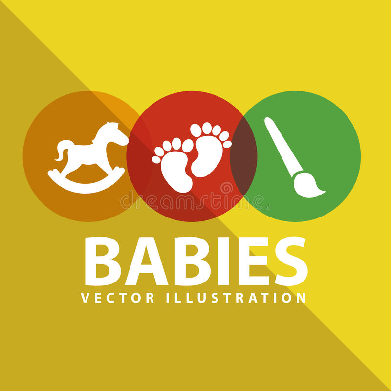 Babies toys. Design, illustration eps10 graphic stock illustration