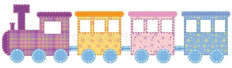 Babies train vector illustration