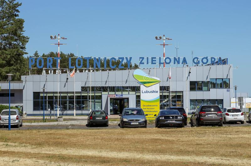 BABIMOST, POLEN - JUNI 24, 2019 Zielona Gora - Babimost-luchthaven royalty-vrije stock foto's