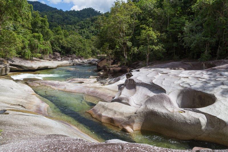 Babinda-Flusssteine in Queensland, Australien lizenzfreie stockfotos