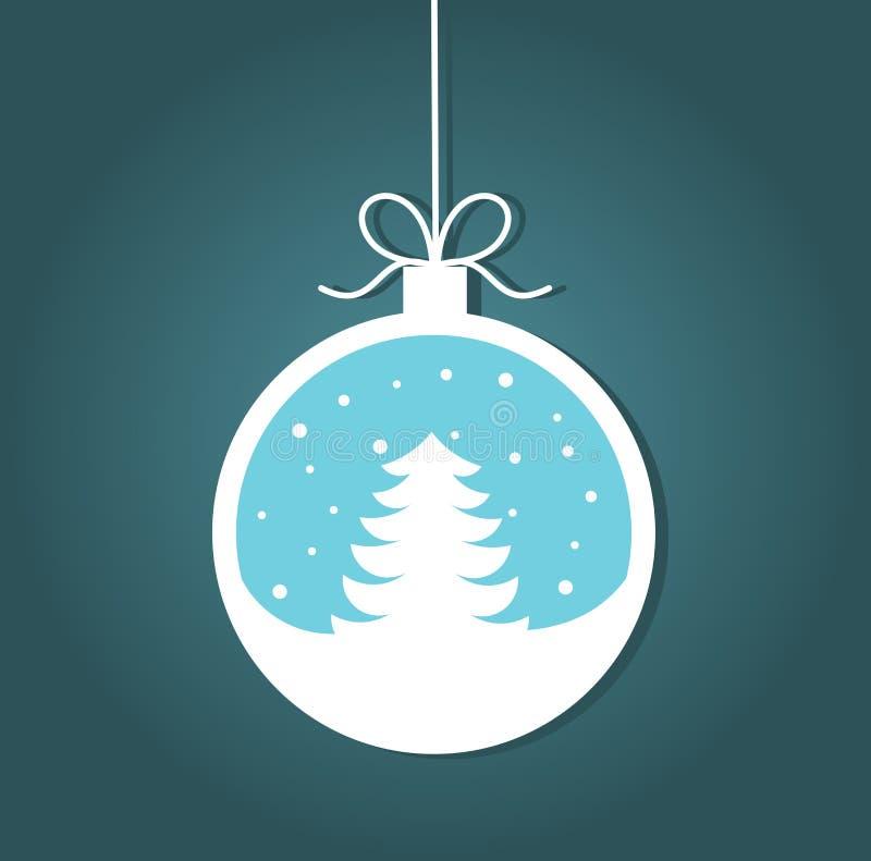 Babiole de Noël avec l'arbre de Noël illustration de vecteur