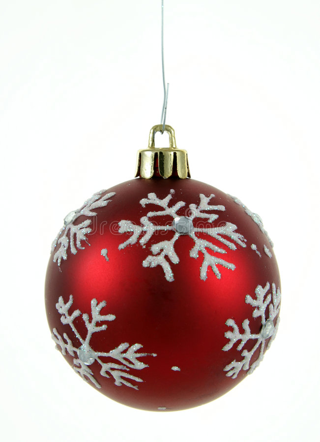Babiole rouge de flocon de neige photos libres de droits