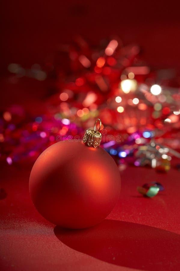 Babiole rouge de Noël images stock