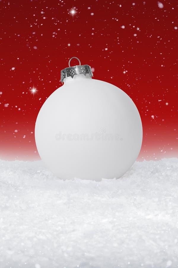 Babiole simple de Noël blanc photographie stock