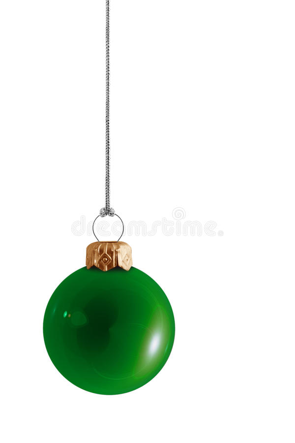 Babiole verte brillante de Noël photo stock