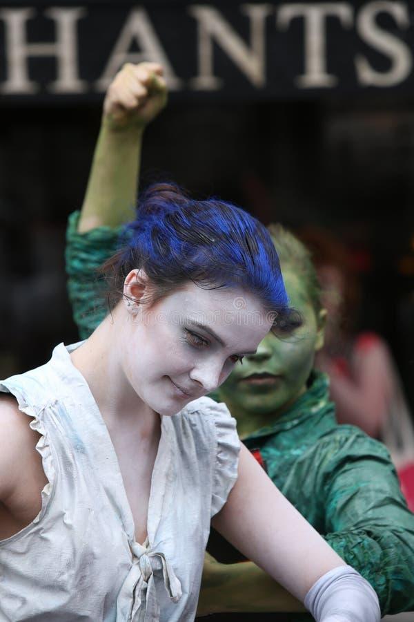 Babolin剧院的成员爱丁堡边缘节日的2013年 免版税库存图片