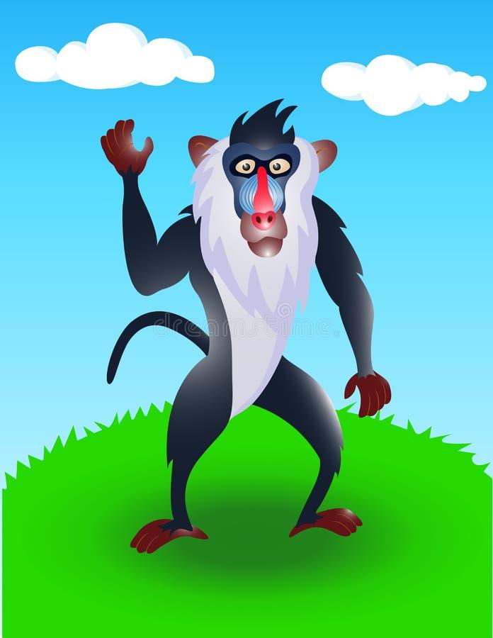 baboon άγρια περιοχές διανυσματική απεικόνιση