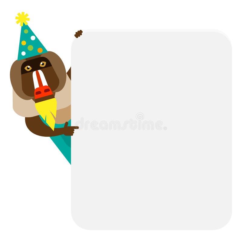 Baboon έμβλημα κλόουν διανυσματική απεικόνιση