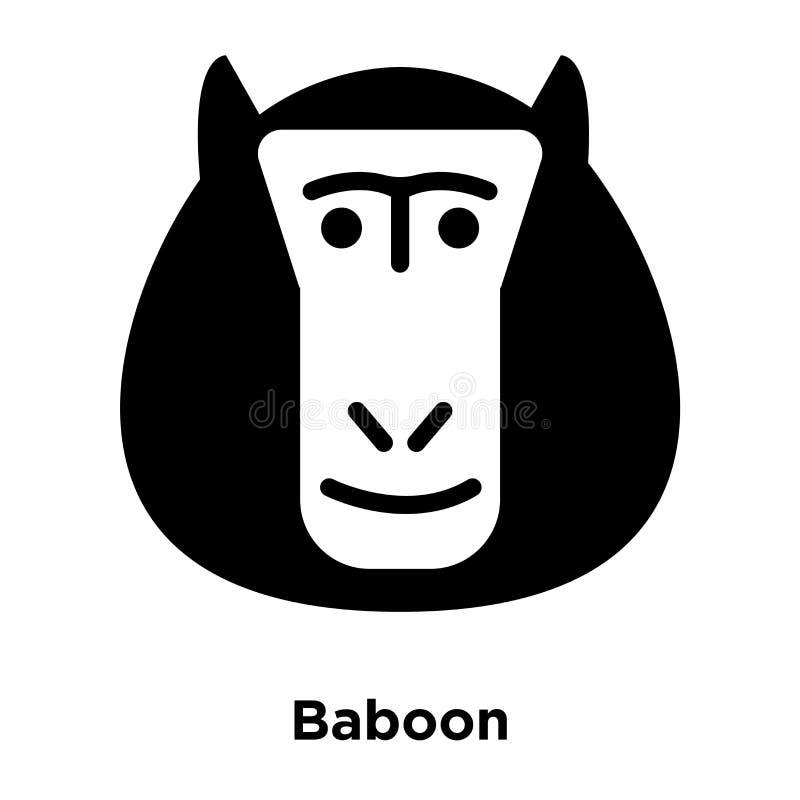 Baboon διάνυσμα εικονιδίων που απομονώνεται στο άσπρο υπόβαθρο, έννοια λογότυπων διανυσματική απεικόνιση