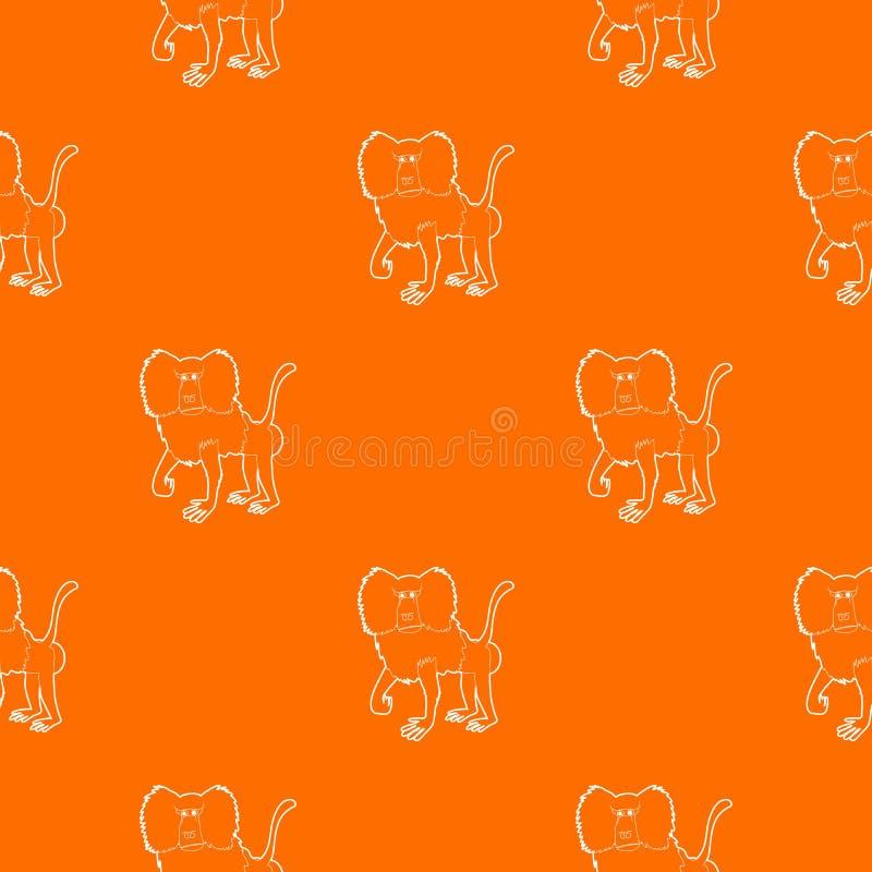 Baboon διανυσματικό πορτοκάλι σχεδίων διανυσματική απεικόνιση
