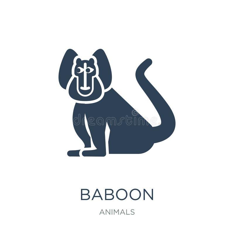 baboon εικονίδιο στο καθιερώνον τη μόδα ύφος σχεδίου baboon εικονίδιο που απομονώνεται στο άσπρο υπόβαθρο baboon διανυσματικό απλ απεικόνιση αποθεμάτων