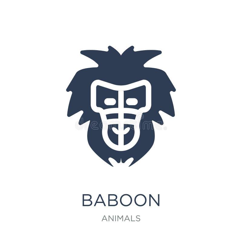Baboon εικονίδιο  απεικόνιση αποθεμάτων
