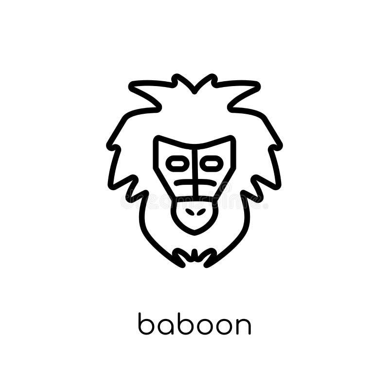 Baboon εικονίδιο  διανυσματική απεικόνιση