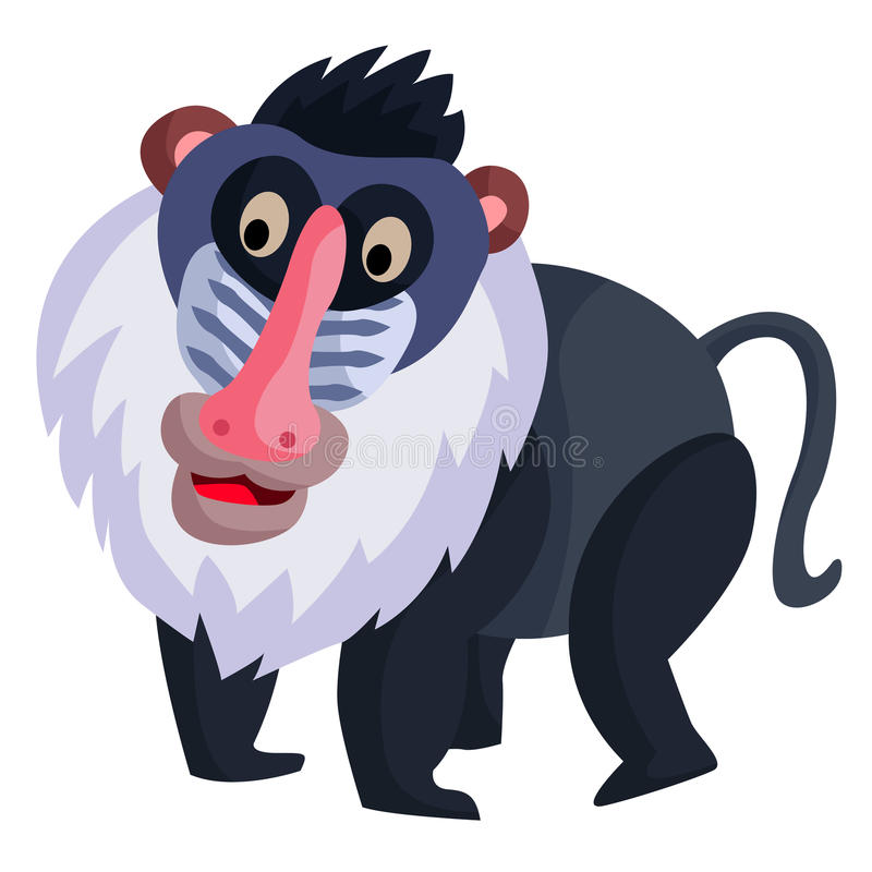 baboon stock vector illustration of illustrations mandrill 44485597 rh dreamstime com  baboon clip art for kids