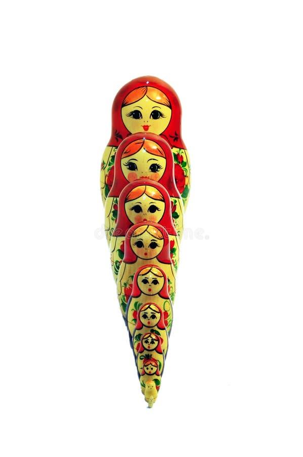 babushka俄语玩偶的卷选拔 库存图片