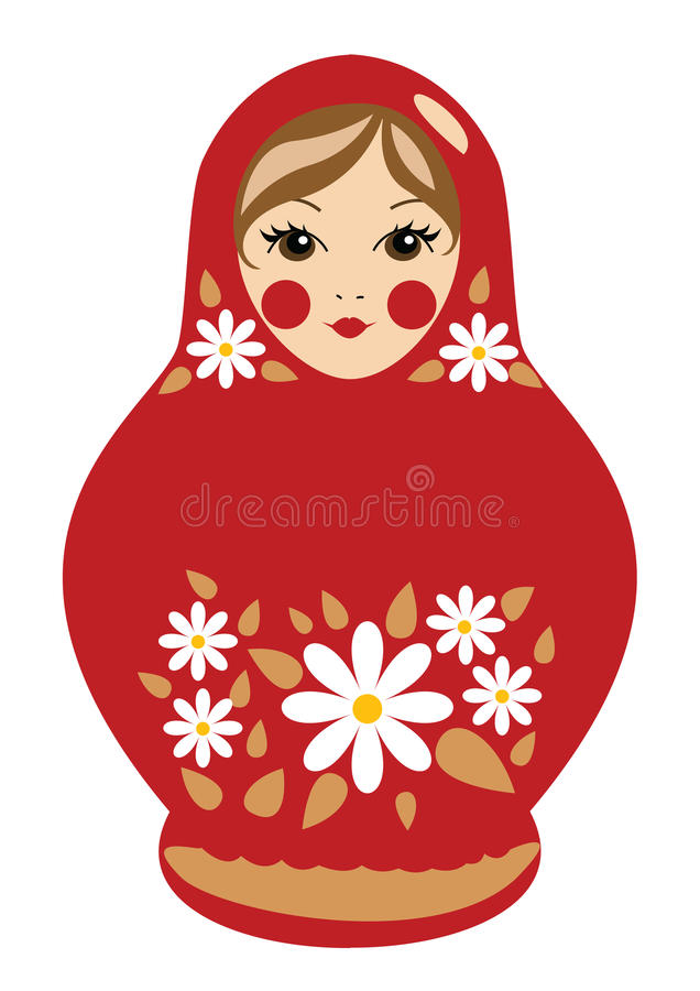Babushka doll royalty free stock image