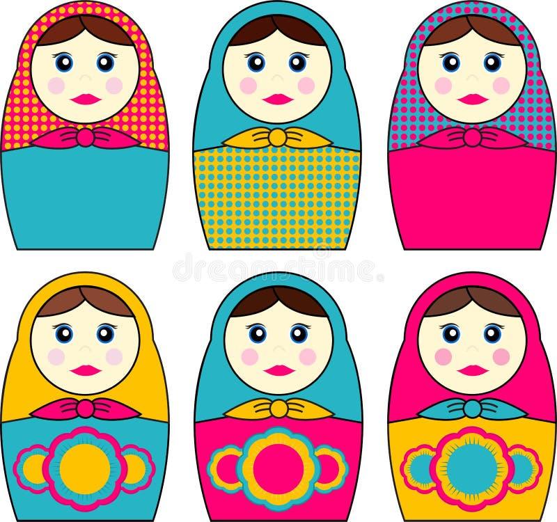 Babushka Dolls stock illustration