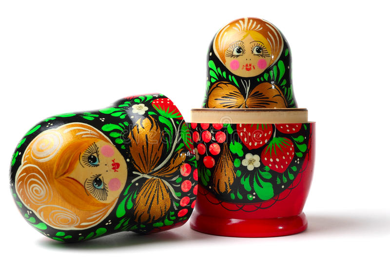Babushka Matreshka royalty-vrije stock foto