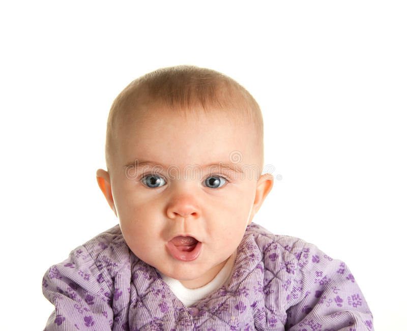 Download Baby stock image. Image of baby, expression, surprised - 11699867