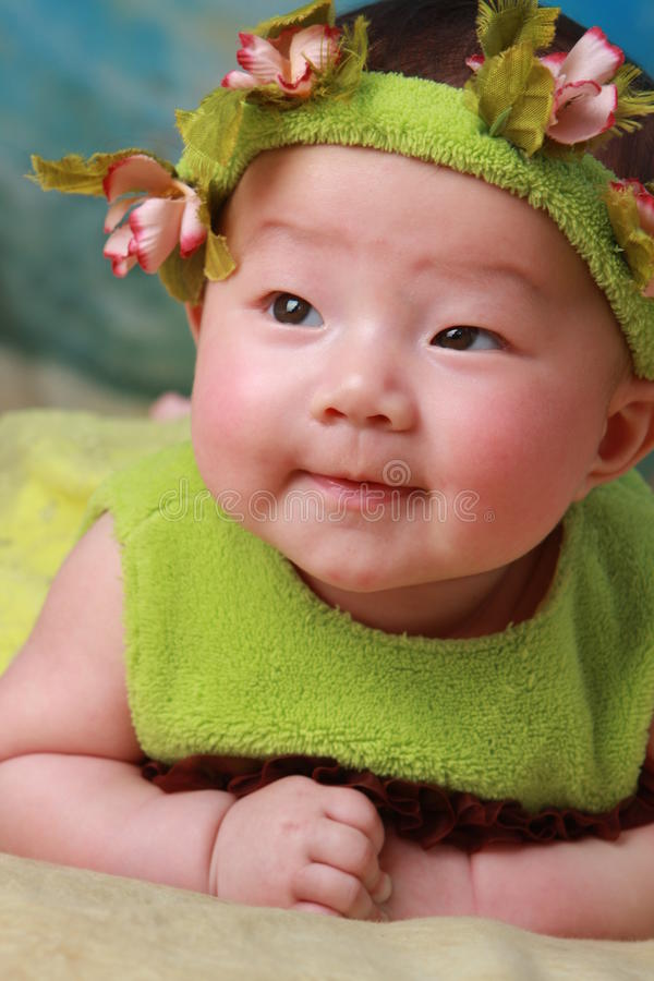 Baby. Happy,cute baby in her 100 days stock image