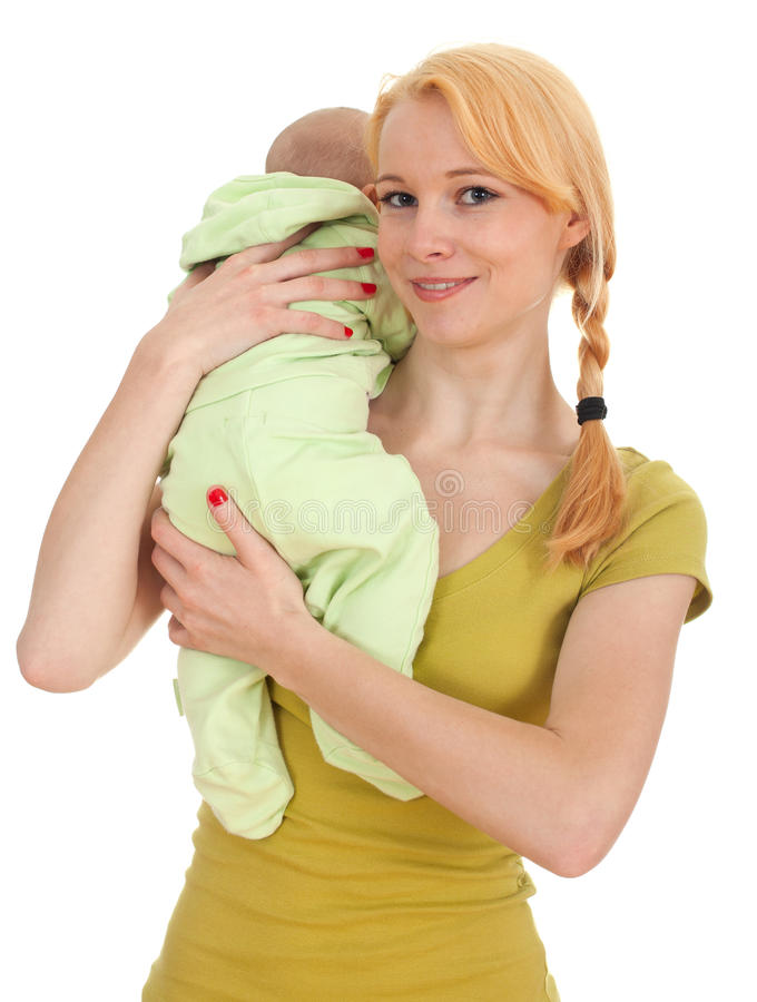 Baby 2 Month Boy With Mother Royalty Free Stock Images