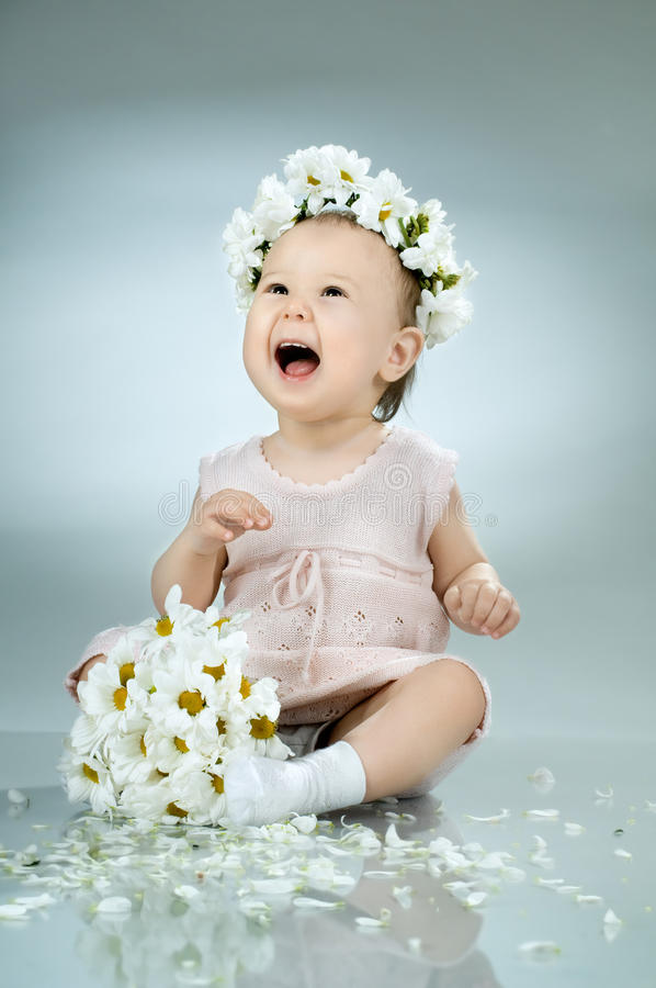 Download Baby stock image. Image of cheerful, cheery, nosegay - 20179765